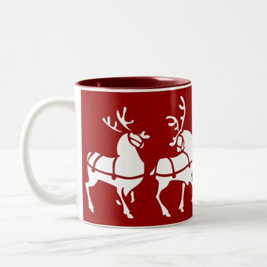 Reindeer Mug Coffee Cup Festive Christmas Decor
