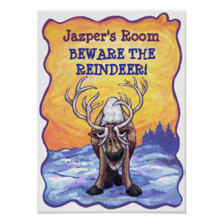 Reindeer My Room Poster