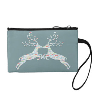 Reindeer Names Cut Outs Change Purse