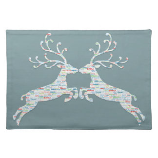 Reindeer Names Cut Outs Placemat