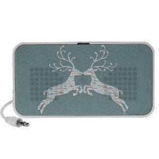 Reindeer Names Cut Outs Speakers