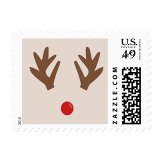 Reindeer Nose Christmas Holiday  Stamps