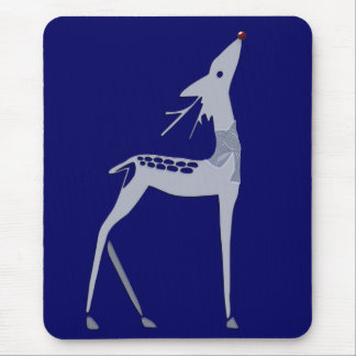reindeer on blue mouse pad