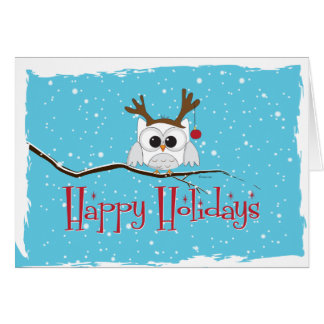 Reindeer Owl Holiday Card