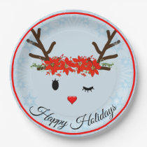 Reindeer Paper Plates