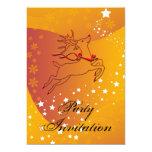 "Reindeer Party Invitation 5"" X 7"" Invitation Card"
