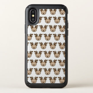 Reindeer Pattern Speck Presidio iPhone X Case