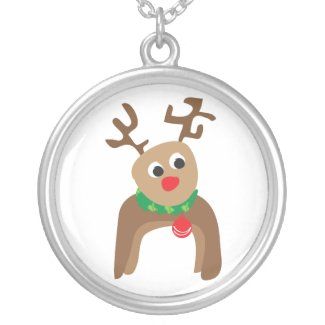 Reindeer Pendant Necklace necklace