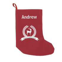 reindeer Personalized Christmas Stockings