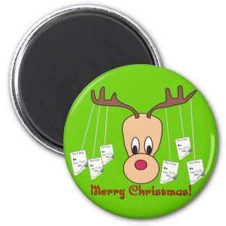 Reindeer Pharmacy Merry Christmas 2 Inch Round Magnet