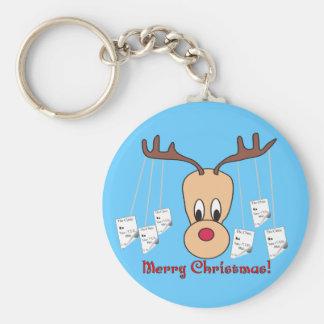 Reindeer Pharmacy Merry Christmas Basic Round Button Keychain