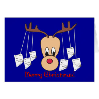 Reindeer Pharmacy Merry Christmas Card