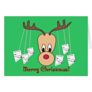Reindeer Pharmacy Merry Christmas Greeting Card