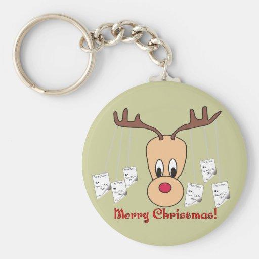 Reindeer Pharmacy Merry Christmas Keychains