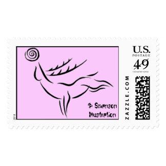 Reindeer Pictogram Stamp