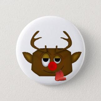 reindeer pinback button