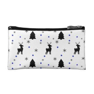 Reindeer Pine Forest Makeup Bag