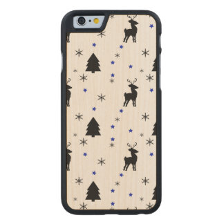 Reindeer Pine Forest Carved Maple iPhone 6 Slim Case