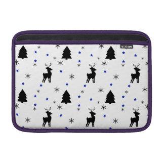 Reindeer Pine Forest MacBook Sleeves