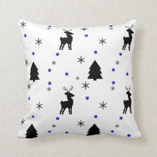 Reindeer Pine Forest Throw Pillows