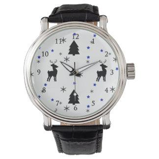 Reindeer Pine Forest Wristwatches