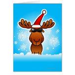 Reindeer Playing Santa Card