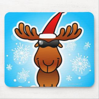 Reindeer Playing Santa Mouse Pad