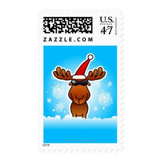 Reindeer Playing Santa Postage