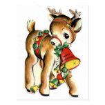 Reindeer Post Card
