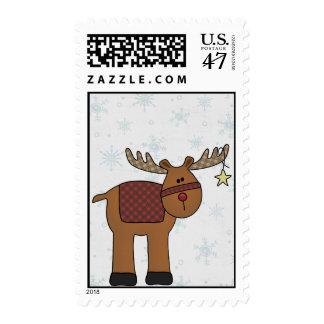 Reindeer Postage Stamp