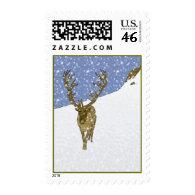 Reindeer Postage Stamps