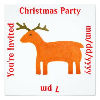 Reindeer Puppet Invitation Template