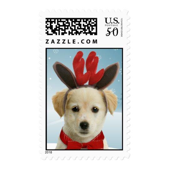 Reindeer Puppy Christmas Postage