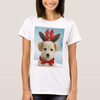 Reindeer Puppy Christmas T-Shirt