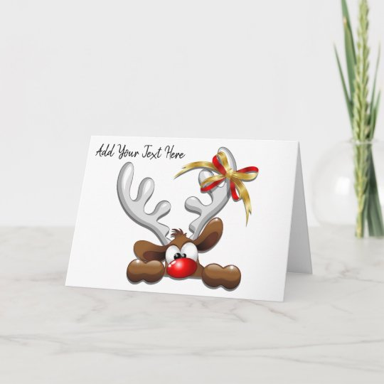 Reindeer Puzzled Funny Christmas Character Invitation