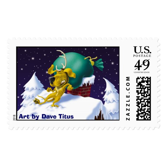 Reindeer R Scarce, Art by Dave Titus Postage