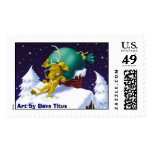 Reindeer R Scarce, Art by Dave Titus Postage Stamp