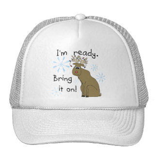 Reindeer Ready for Christmas Tshirts and Gifts Trucker Hat