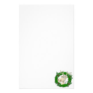 Reindeer reef, stationary paper. stationery