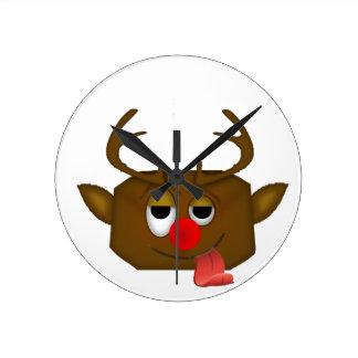 reindeer round clock