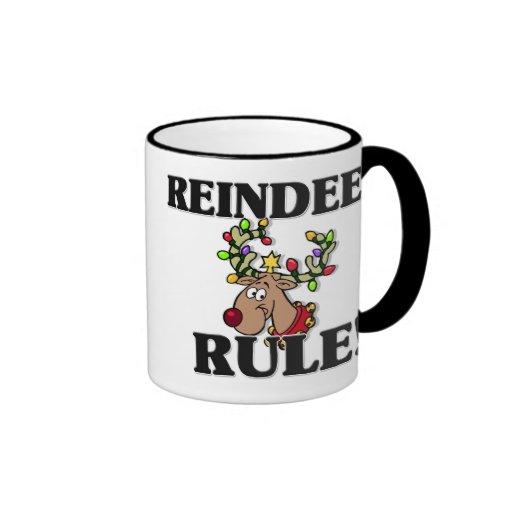 REINDEER Rule! Ringer Coffee Mug