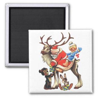 Reindeer Santa Magnet