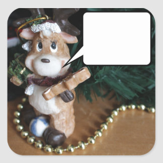 Reindeer Says... Christmas Square Sticker