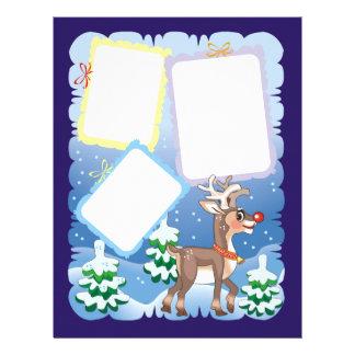 Reindeer Scrapbook Page