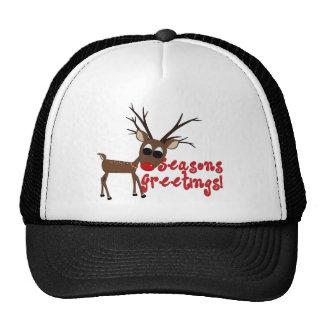 Reindeer Season's Greetings Trucker Hat