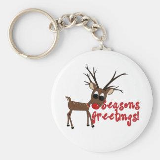 Reindeer Season's Greetings Keychain