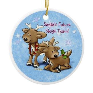 Reindeer - Sibling or Twin Ornament ornament