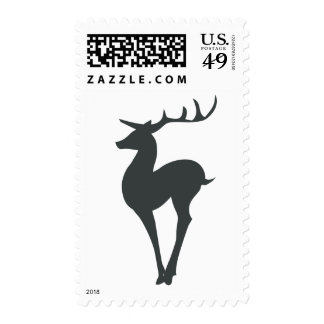 Reindeer Silhouette Postage Stamps