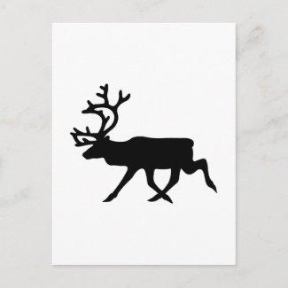 Reindeer Silhouette postcard