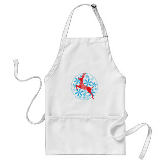 Reindeer Sky Holiday Apron